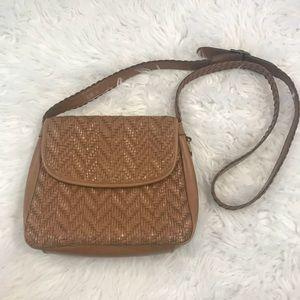 Vintage LC Woven Crossbody Bag